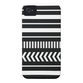 Black and white  stripes iPhone 4 Case-Mate case