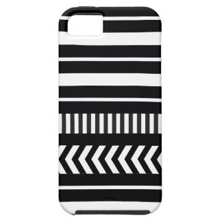 Black and white  stripes iPhone 5 cover