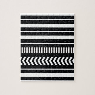 Black and white  stripes jigsaw puzzle