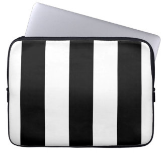 Black and White Stripes - Laptop Sleeve