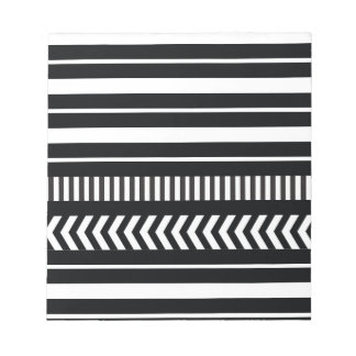 Black and white  stripes notepad
