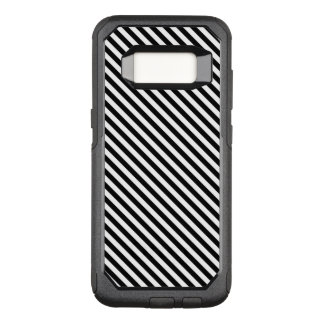 Black and White Stripes OtterBox Commuter Samsung Galaxy S8 Case