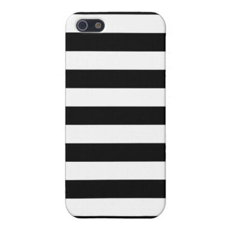 Black and White Stripes Pattern iPhone 5 Cover