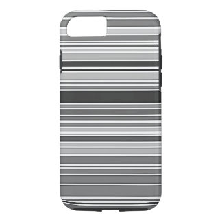 Black and White Stripes Pattern iPhone Case