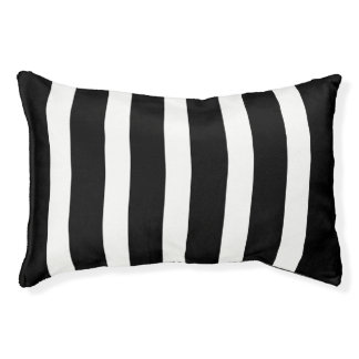 Black And White Stripes Pattern Pet Bed