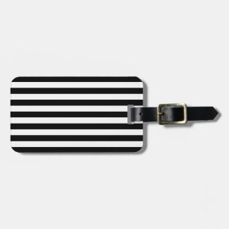 Black and White Stripes Pattern Travel Bag Tag