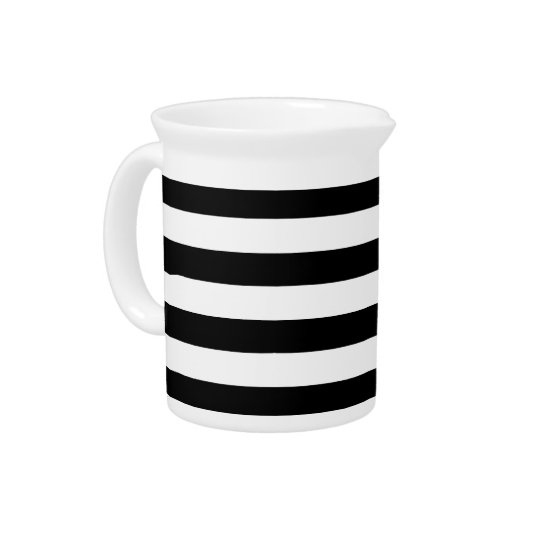 Black and White Stripes Pitcher