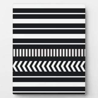 Black and white  stripes plaque