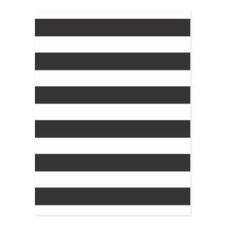 Black and White Stripes Postcard