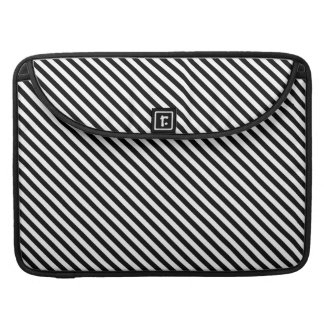 Black and White Stripes Sleeve For MacBook Pro
