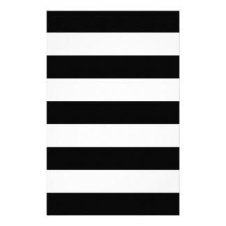 Black And White Stripes Stylish 14 Cm X 21.5 Cm Flyer