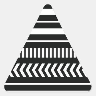 Black and white  stripes triangle sticker