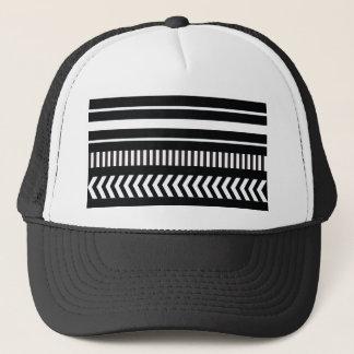 Black and white  stripes trucker hat