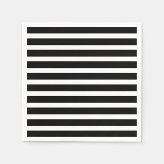 Black and White strips Disposable Serviettes