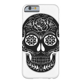 Black and white sugar skull barely there iPhone 6 case