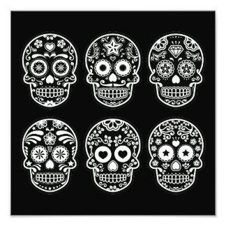 Black and White Sugar Skull Photo Print