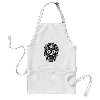 Black and White Sugar Skull Star Standard Apron