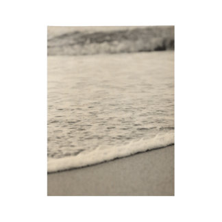 Black and White Summer beach Wood Poster