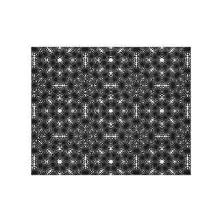 Black and White Sunflower Gallery Wrap Canvas