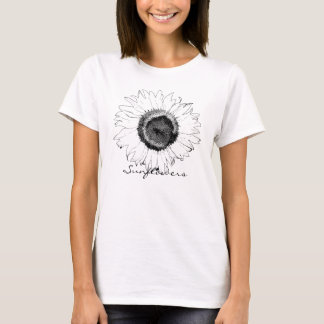 Black and White Sunflower T-Shirt