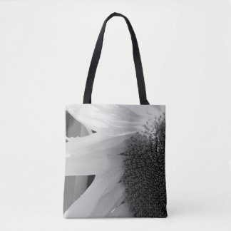 Black and White Sunflower Tote Bag