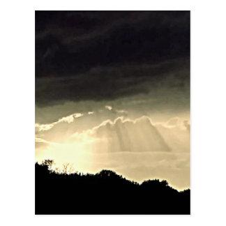 Black and White Sunset Postcard