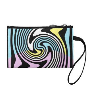 black and white swirl coin purse