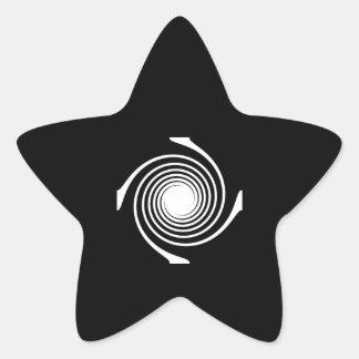 Black and White Swirl Design. Sticker