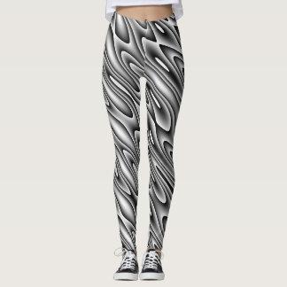 Black and White Swirl Leggings