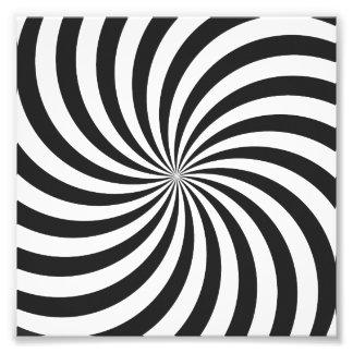 Black and White Swirl Pattern Photographic Print