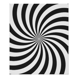 Black and White Swirl Pattern Poster