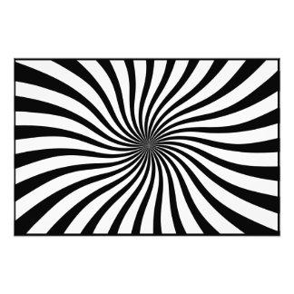 Black and white swirl photo print