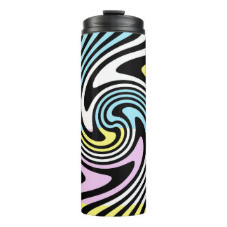 black and white swirl thermal tumbler