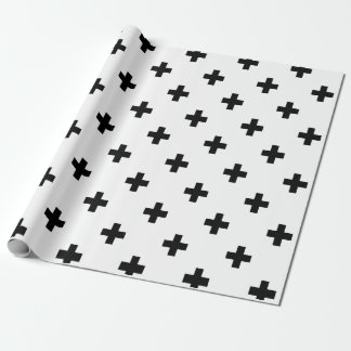 Black and White Swiss Cross Pattern