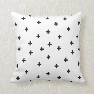 Black and White Swiss Cross Pillow
