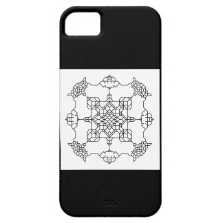 black and white symmetric mosaic barely there iPhone 5 case