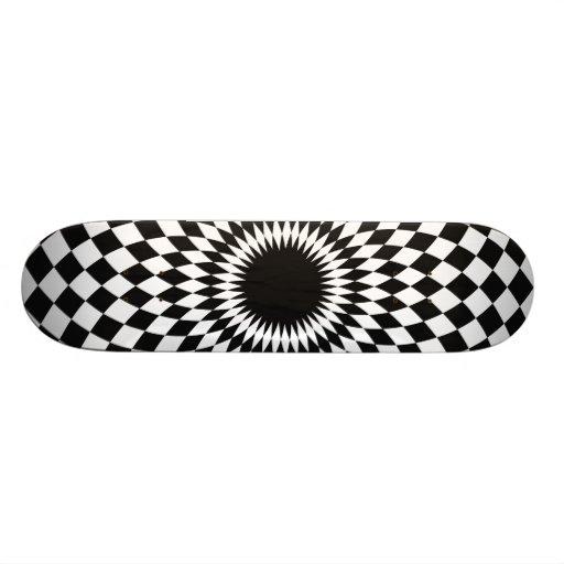 Black and White Symmetrical Design Skate Board Deck