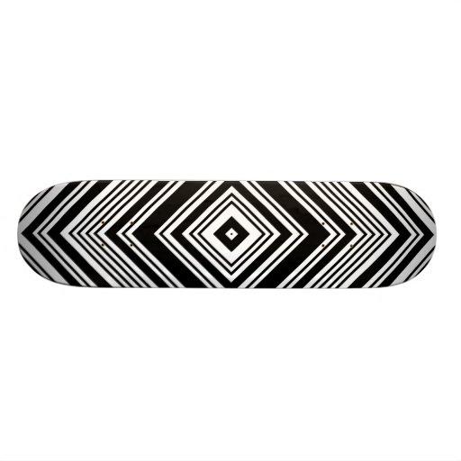 Black and White Symmetrical Design. Skateboard