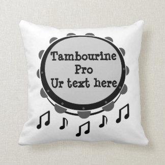 Black and White Tambourine Cushion