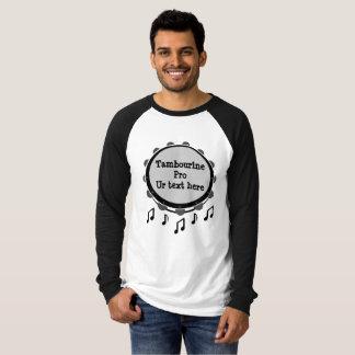 Black and White Tambourine T-Shirt