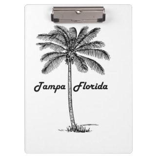 Black and White Tampa & Palm design Clipboard