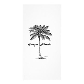 Black and White Tampa & Palm design Customized Photo Card