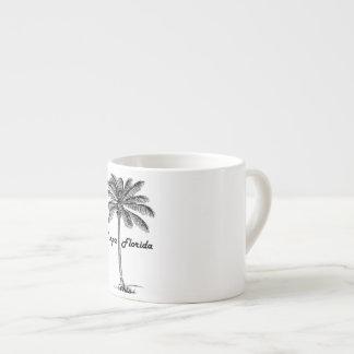 Black and White Tampa & Palm design Espresso Cup