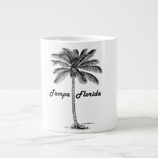 Black and White Tampa & Palm design Large Coffee Mug