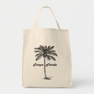 Black and White Tampa & Palm design Tote Bag