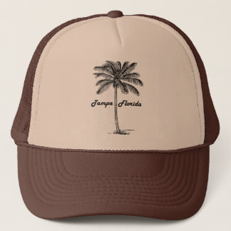 Black and White Tampa & Palm design Trucker Hat