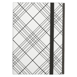 Black And White Tartan Plaid Checked Pattern Cover For iPad Air
