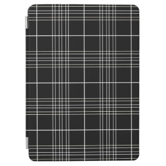 Black And White Tartan Plaid Checked Pattern iPad Air Cover