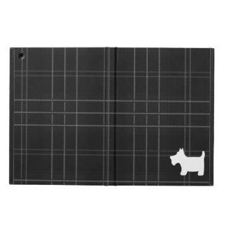 Black and White Tartan & Scottie Dog iPad Air Covers
