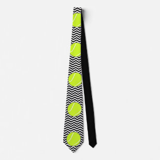 Black and White Tennis Player or Coach Neck Tie